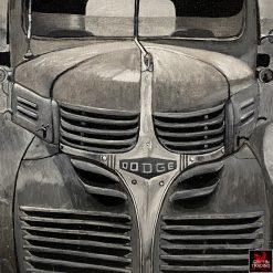 Ol' Blue Dodge Truck Painting by Carol Grudowski