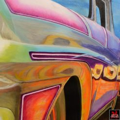 High Roller Custom Ranchero Painting by Carol Grudowski