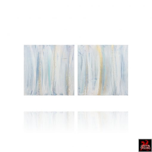 Diptych Abstract Painting 8309 by Austin Allen James