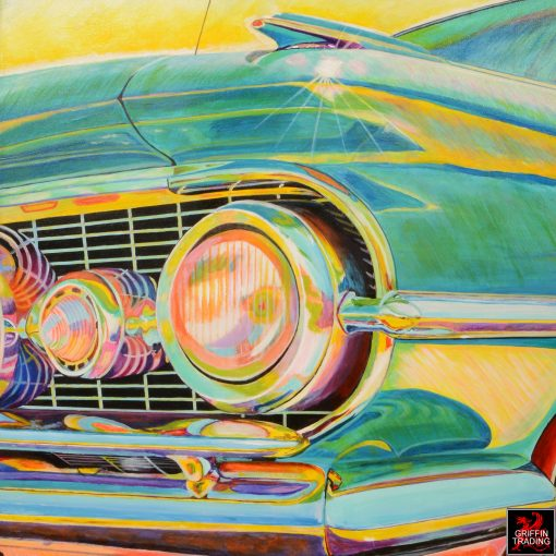 Flat Top Dreaming classic car painting by Carol Grudowski