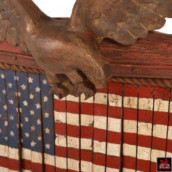 Van Dusen Clockworks American Flag Assemblage Art
