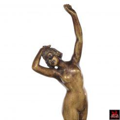 Antique Art Deco Bronze Nude Sculpture of a female