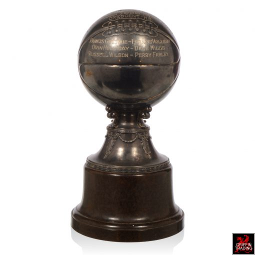 Silverplate Antique Basketball Trophy 1929