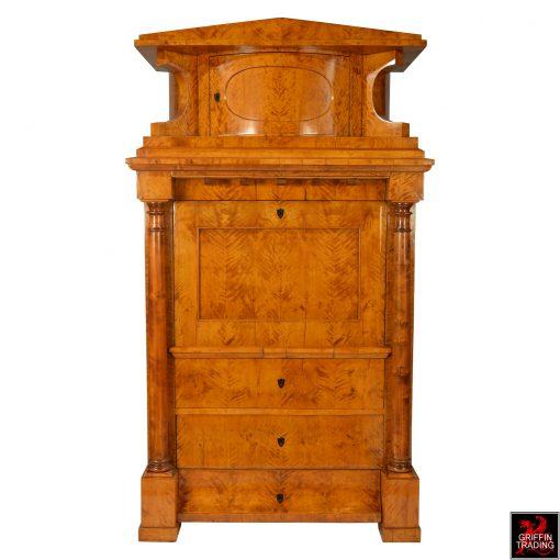 Antique Biedermeier Secretary Desk