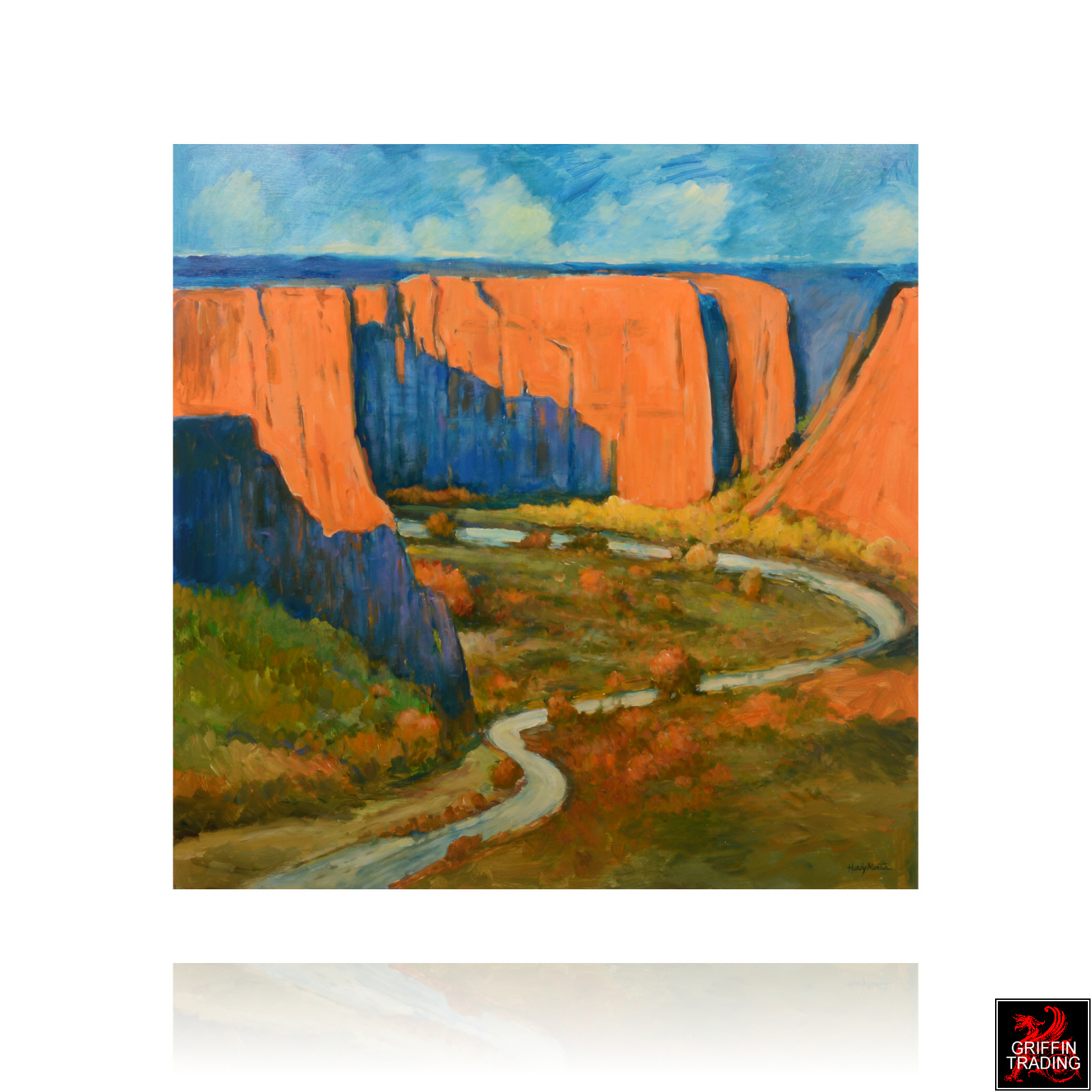 High Canyon Big Bend painting by Hardy Martin.