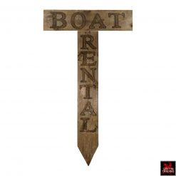 Vintage Boat Rental Sign