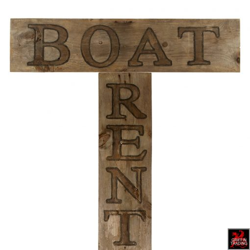 Vintage Boat Rental Sign