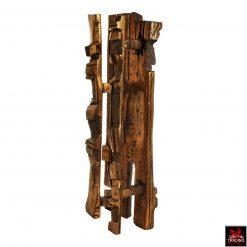 Mid century Brutalist bronze sculpture