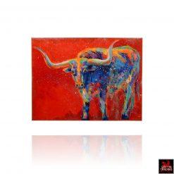 Texas Longhorn painting by Barbara Meikle