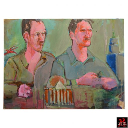 Jerry Bywaters and Otis Dozier painting by Nik Puspurica