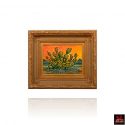 Prickly Pear Cactus painting available at Griffin Trading