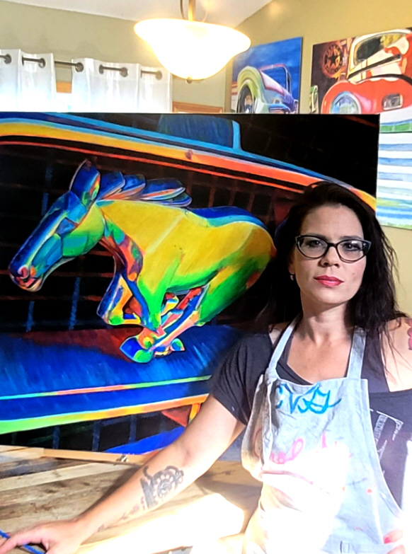 Griffin Trading visits Carol Grudowski's studio
