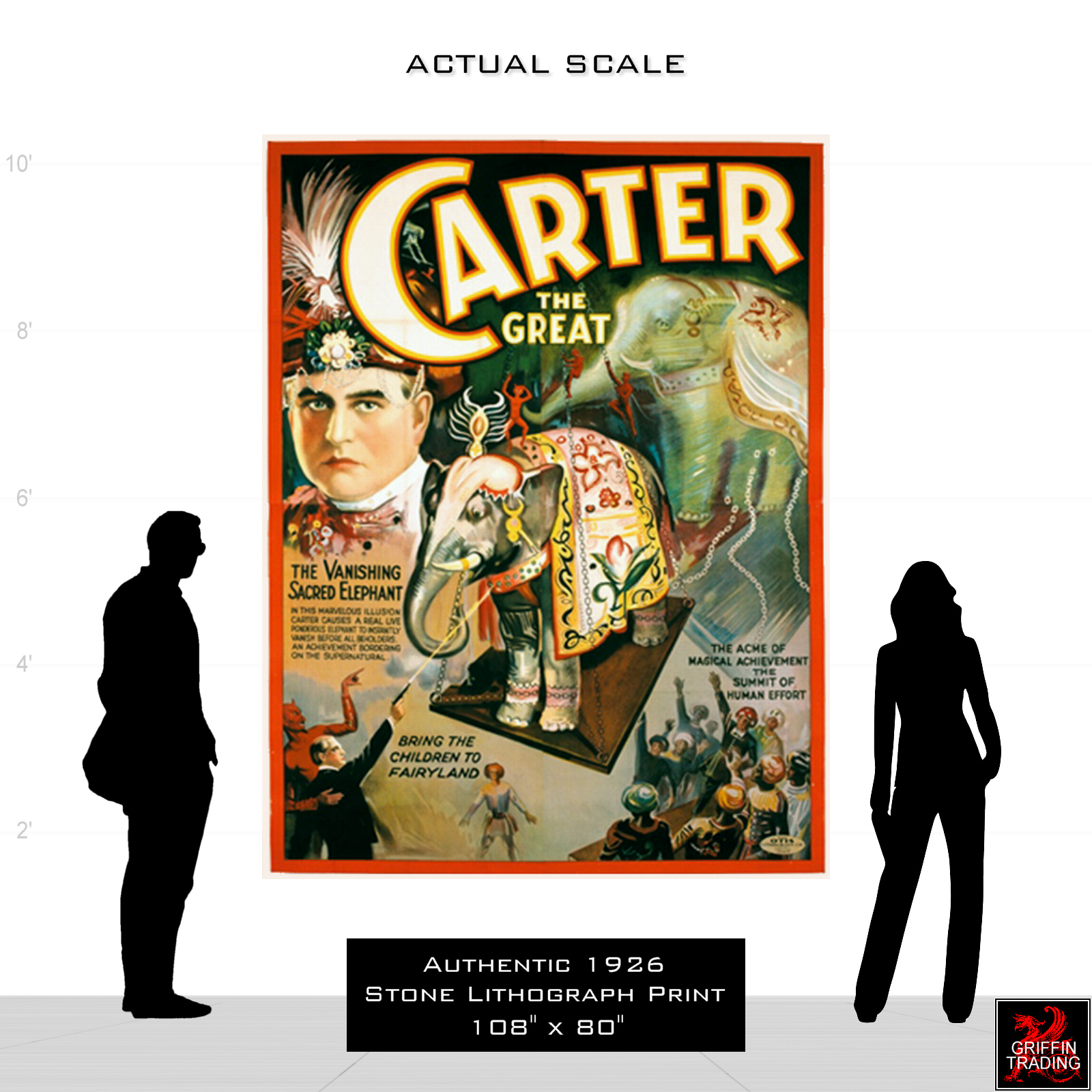 Vintage Carter The Great Poster CIRCUS1082 Art Print A4 A3 A2 A1