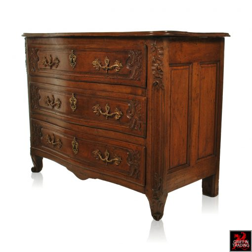 18th Century Louis XV Walnut Commode