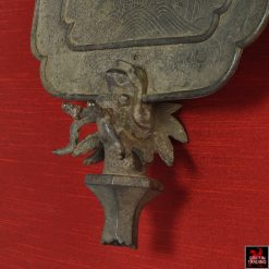 Antique Chinese Bronze Fan Temple Standard