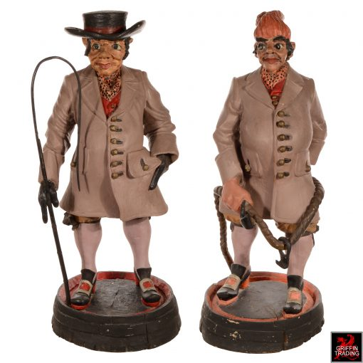 Coachman and Groom Antique Advertising Show Figure