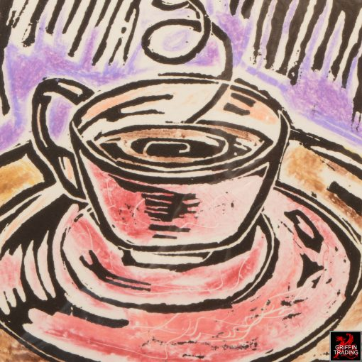 COFFEE TIME Lino Print by artist Lori Maclean