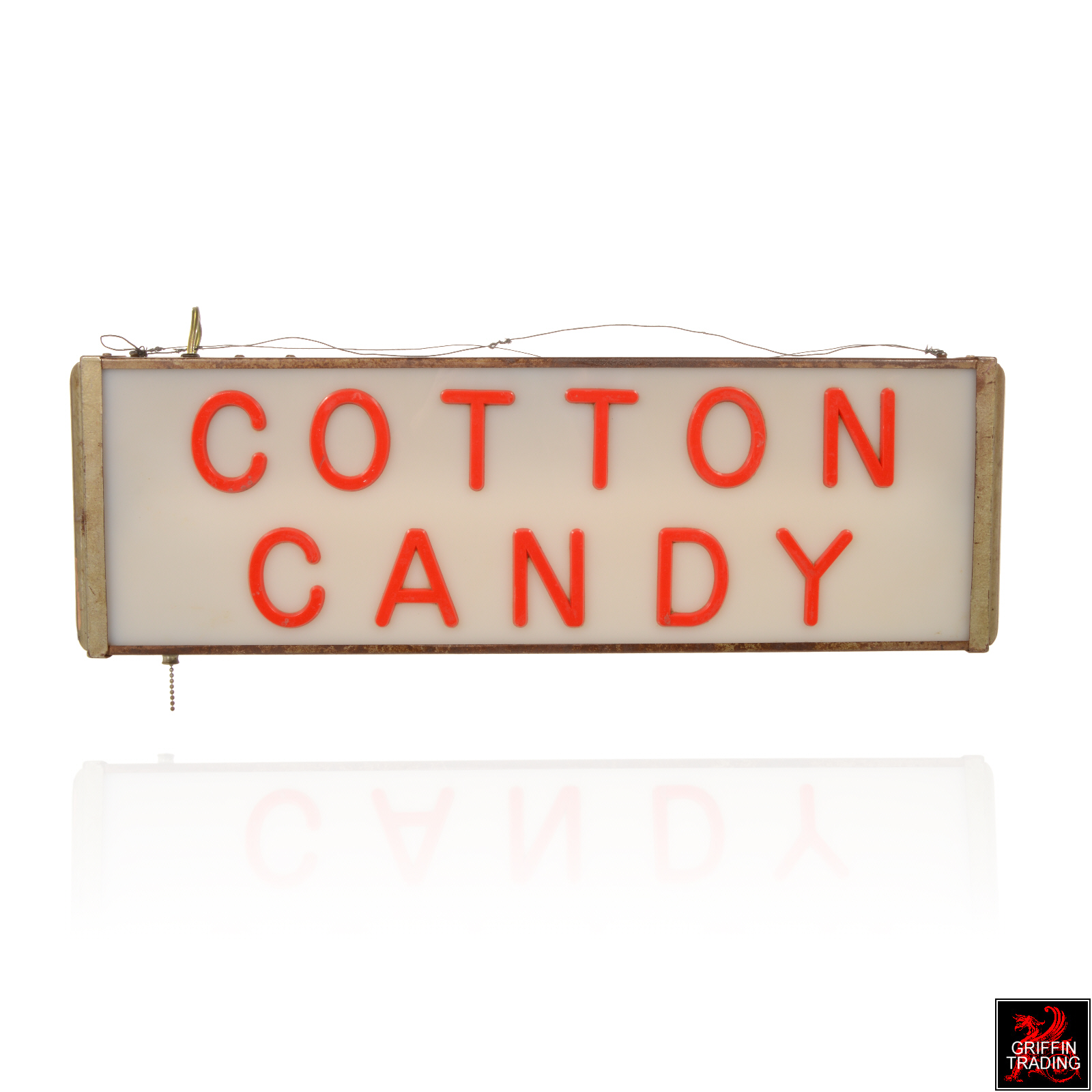 Lighted Cotton Candy Sign