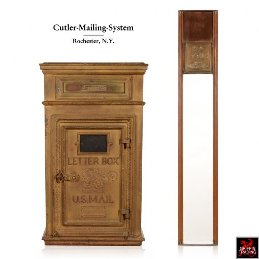 Antique Cutler Mailbox and Chute