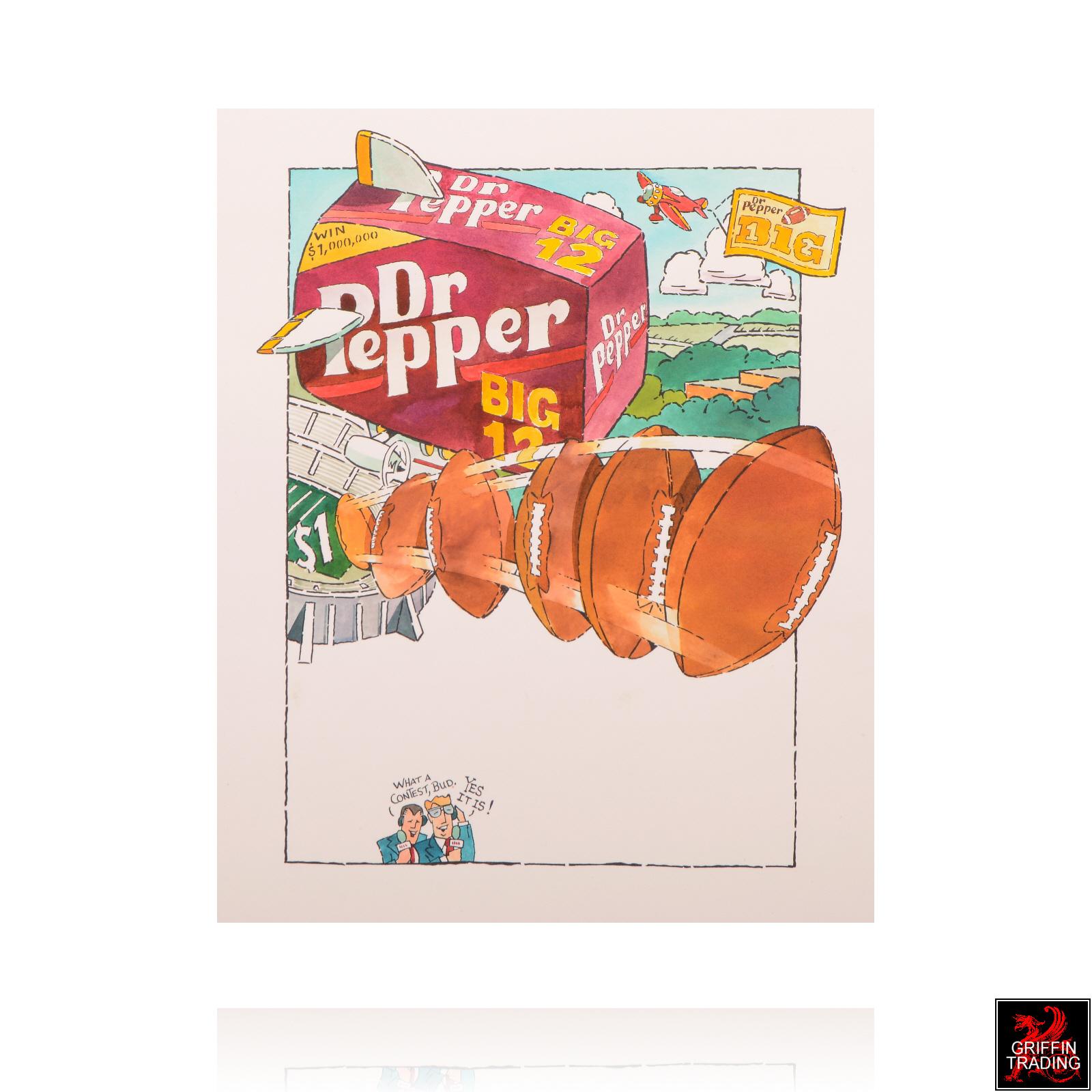 Dr Pepper Football Illustration