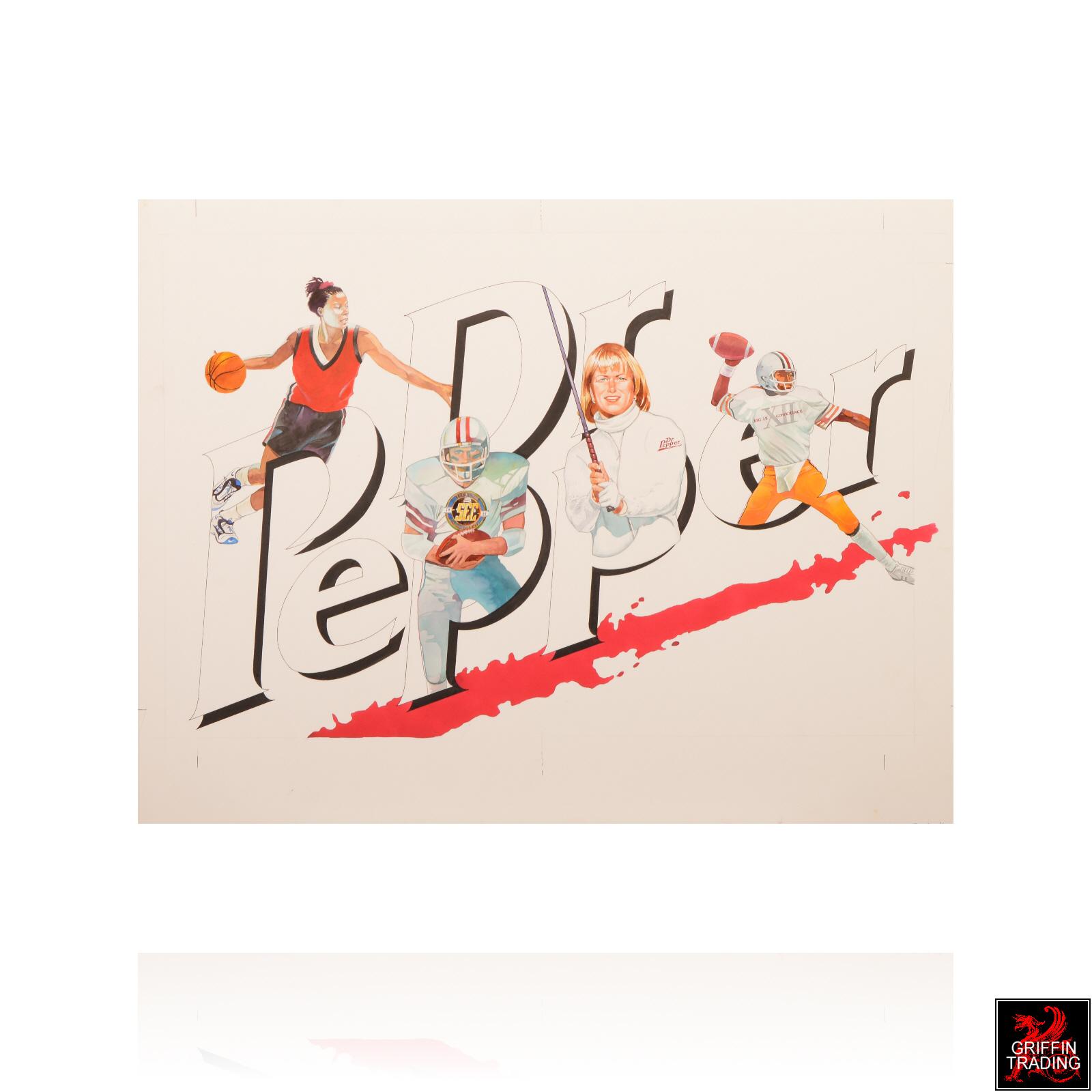 Dr Pepper Sports Illustration