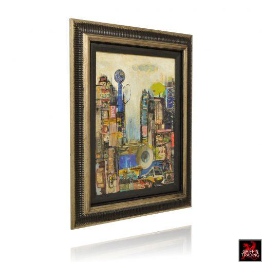 Downtown Dallas Collage Artwork