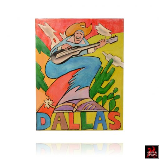 Dallas Rocks Guitar painting by Hardy Martin