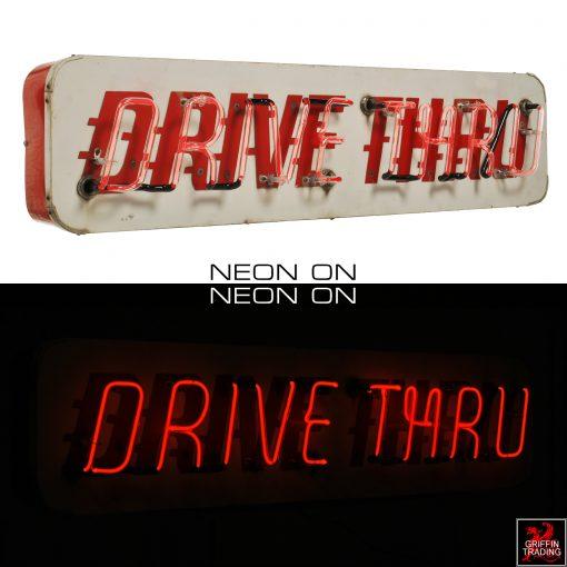 Vintage Drive Thru Neon Sign