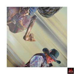 Flipping Cowboy 3 Painting by Lori Maclean