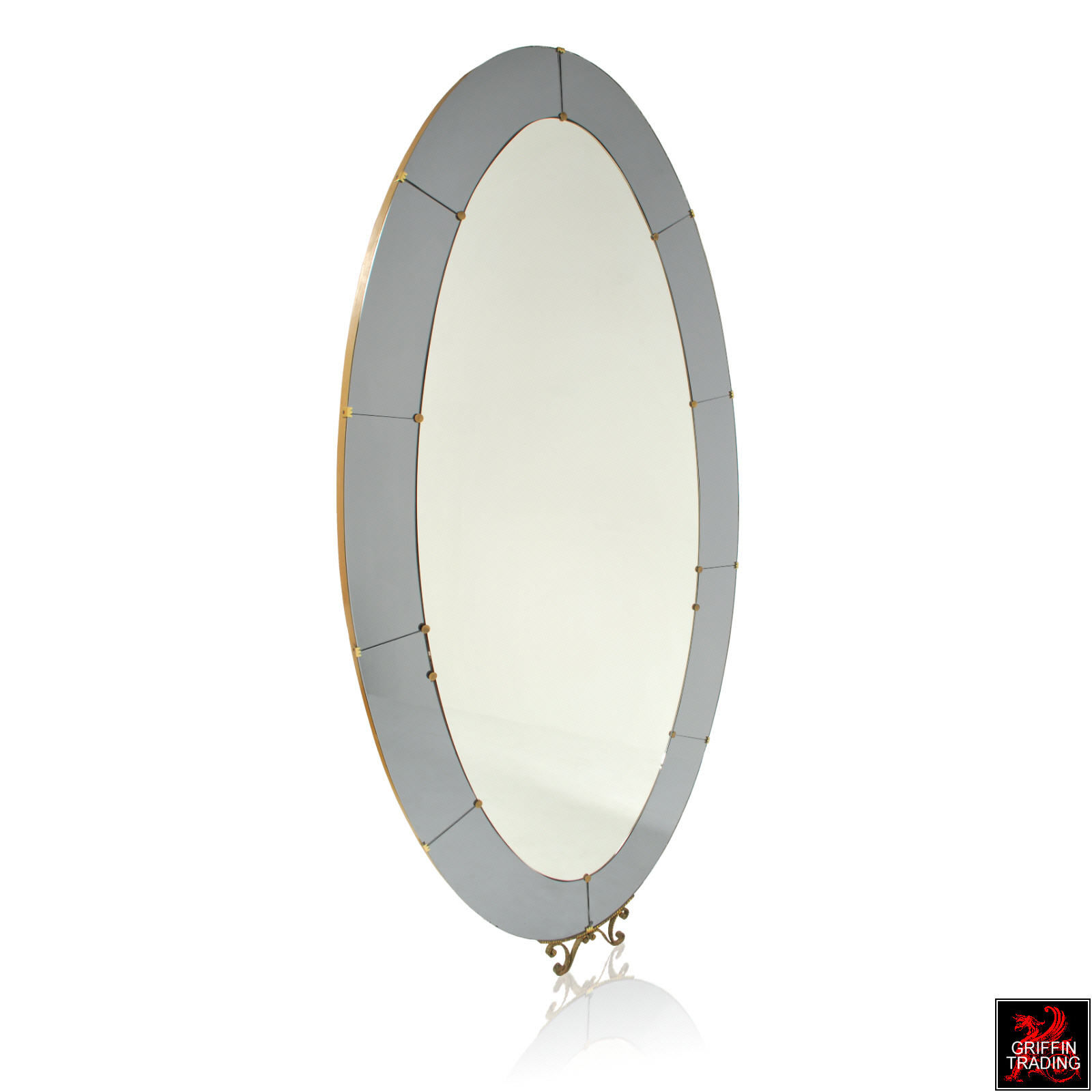 Crystal Arte Floor Mirror from Italy - Mid-Century Modern Furniture ...