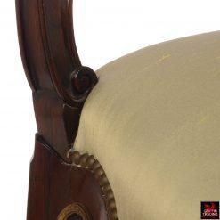 Francois Linke Louis XV Chair with Gilt Bronze Mounts