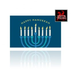 Hanukkah Menorah Holiday Gift Card from Griffin Trading