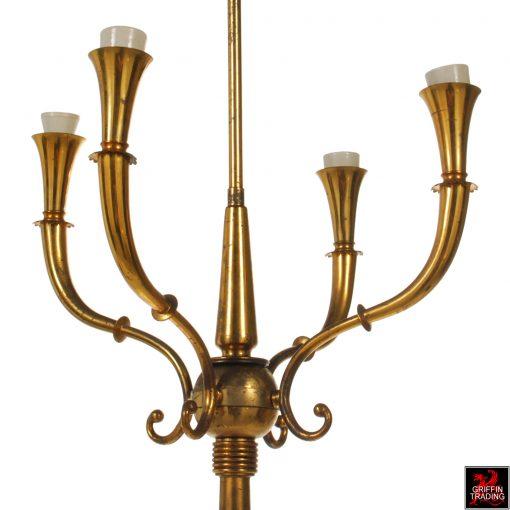 Mid Century Italian Brass Floor Lamp