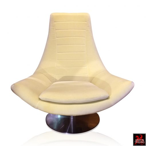 Italian Swivel Lounge Chair