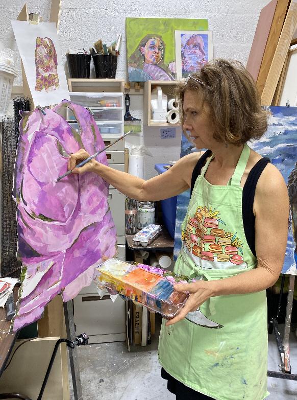Griffin Trading visits Lori Maclean's studio