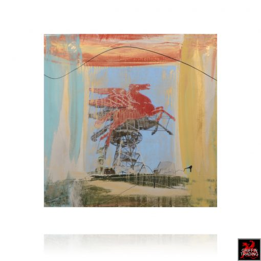 Flying Red Horse Painting 8307