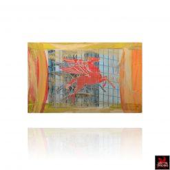 Pegasus artwork 8697 original mixed media painting.