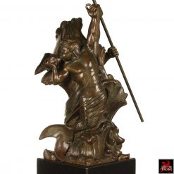 Poseidon Triton Bronze Sculpture by Frederick Jackson