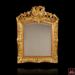 Antique French Regency Louis XIV Giltwood Mirror