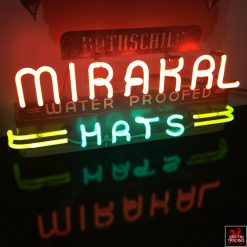 Rothschild Mirakal Hat neon sign