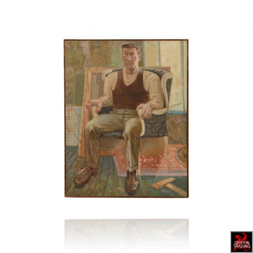 Self portrait in chair is a painting by Nik Puspurica
