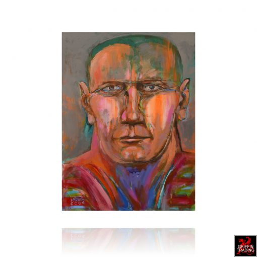 Face a Nik Puspurica self portrait painting as a middle aged man.