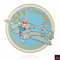 Sky Cowboy WWII Nose Art Illustration