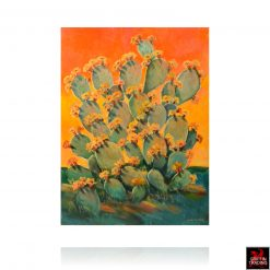 Sunset Cactus Painting