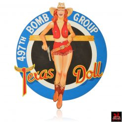 Texas Doll Nose Art Illustration by Ben James