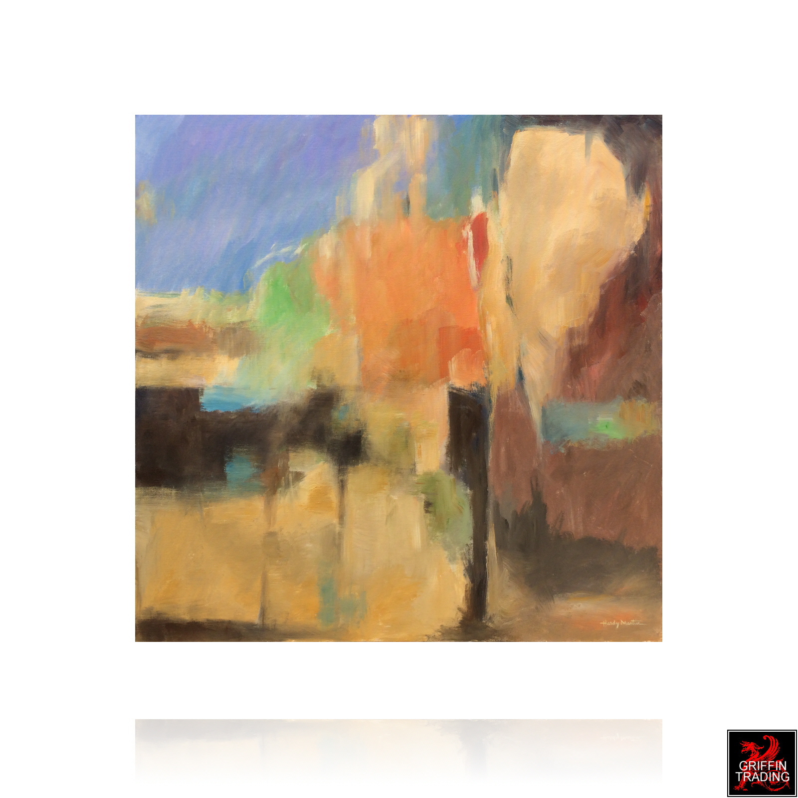 Hardy Martin abstract painting 8159