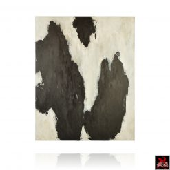 Stephen Hansrote Painting Untitled Black and White Abstract Painting