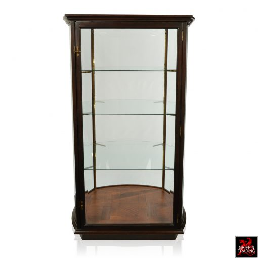 Curved Glass Display Case