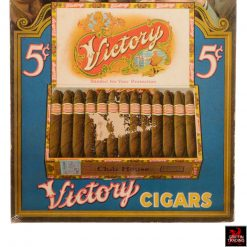 Antique Victory Cigar Store Display Counter Sign