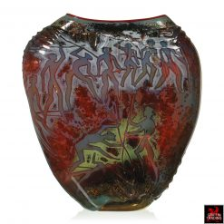 William Morris Petroglyph Art Glass Vessel